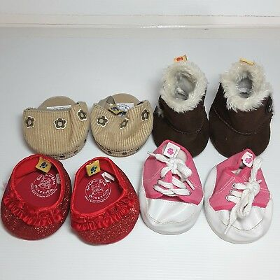Build a Bear shoes doll toy plush accessories Boots Clogs Brown Pink Red Bulk