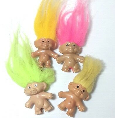 Troll doll figure toy figurine Pink Yellow Small Bulk Vintage 1990s