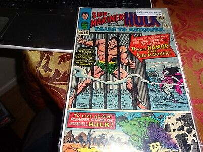 tales to astonish 70.rare silver age marvel featuring submariner and hulk.