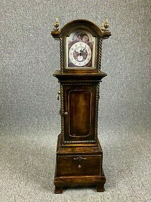 Miniature Long Case Clock Grandfather Clock CD Case Storage - Drawer - Unusual
