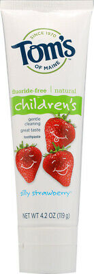 Children's Toothpaste, Tom's of Maine, 4.2 oz Silly Strawberry with Fluoride