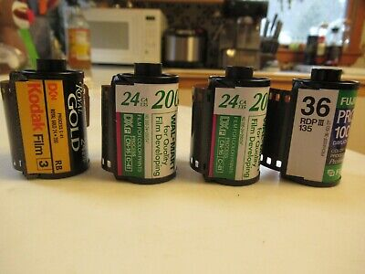 Mixed Lot of 4 Rolls of Expired 35mm Color Print Film Kodak and Fuji
