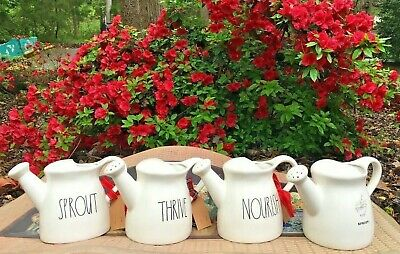 """Rae Dunn Watering Can WATER SPROUT NOURISH GROW """"YOU CHOOSE"""" - NEW!"""