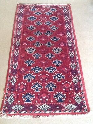 """Old rich Red Hand Knotted Persian Vegetable Dyes Tribal Hall Runner Rug 62 X30"""""""