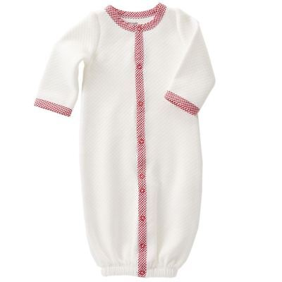 Mud Pie Baby Girl/Boy Convertible Sleep Gown Quilted Red Gingham Sz 3-6 Mos NEW