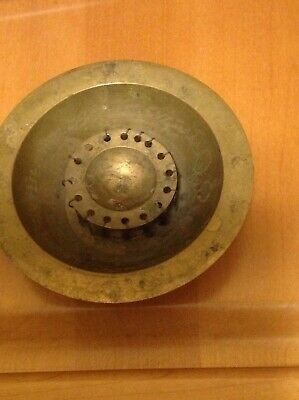 Vintage brass antique water magical bowl Middle Eastern Islamic arabic writings