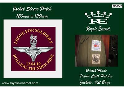 60s style cloth Patch I RODE THE ROLLING THUNDER RIDE FOR SOLDIER F - PP.0347