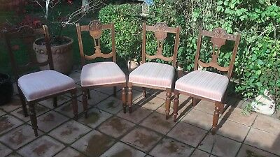 4 Edwardian Dining Chairs Excellent Condition