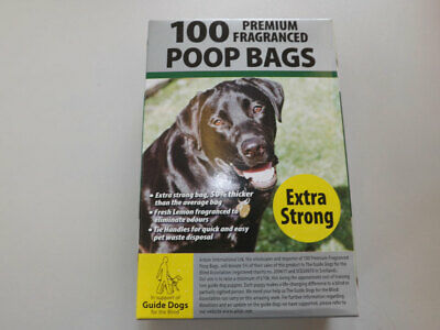 Premium Fragranced Extra Strong Poop Doggy Bags 3 X 100 BAGS