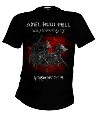 """AXEL RUDI PELL """"30 Anniversary, Moscow 2019"""" Official Licensed Authentic T-Shirt"""