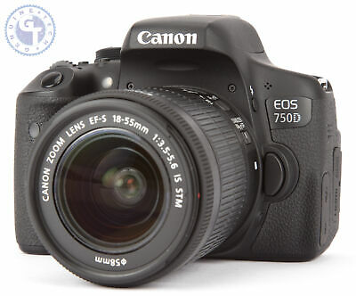 Canon EOS 750D 24.2MP Digital SLR Camera with 18-55mm Lens (Black)
