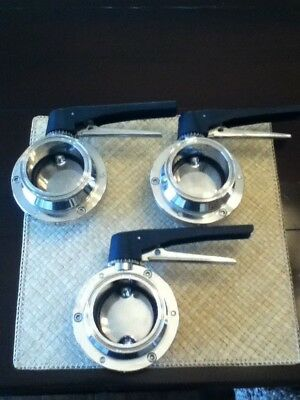 "( 3 ) 3"" Tri Clamp Sanitary Butterfly Valve Valves Stainless Steel 304L"
