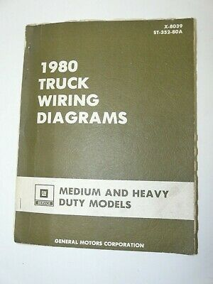 1980 ford c series medium truck wiring diagrams $10 00 picclick  1980 gm truck wiring diagrams manual x 8039 for medium and heavy duty models