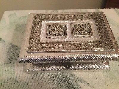 Indian Silver Look Box Very Pretty