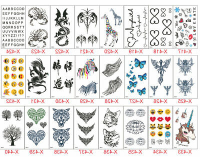 Fake Black Tiny Temporary Tattoo Sticker for Beauty Girl Body Makeup Hands Neck