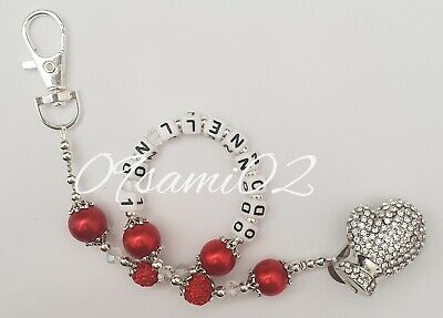 💖Bling Dummy Clip Personalised Diamante Shamballa, Crystal Romany! Boxing glove