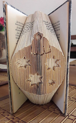 Christmas Bauble COMBI Book Folding Pattern (PRINTED PATTERN ONLY)