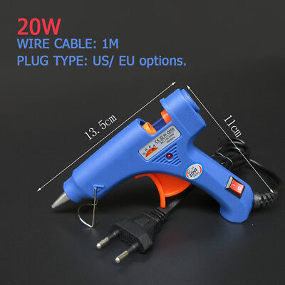 20W 100W Professional Mini Electric Heating Temperature Hot Melt Glue Gun EU/US