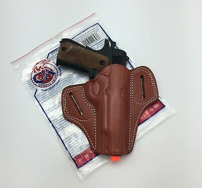 CEBECI LEATHER COMBAT Grip Pancake OWB Belt Holster for 1911 FULL SIZE - RH