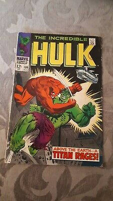 Marvel The Incredible Hulk #106 Silver Age A Titan Rages
