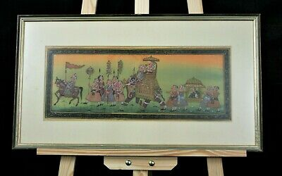 Framed Indian painting on Silk - Possibly Hindu Imagery