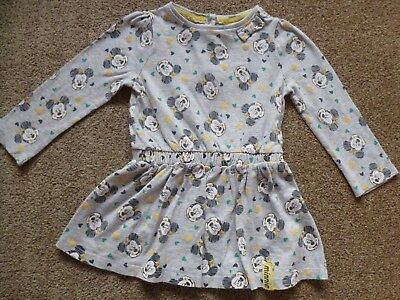 Baby Girls Toddlers Disney Minnie Mouse Dress Size 9-12 Months Ex Cond
