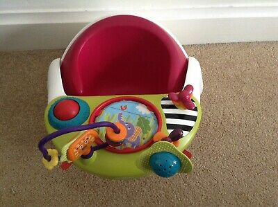 Mamas and Papas Baby Snug Seat With Activity Tray - in Raspberry Ex cond