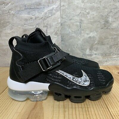 the best attitude 96642 eedfe NIKE AIR VAPORMAX Premier Flyknit Size 10.5 Mens Black Metallic Silver Shoes