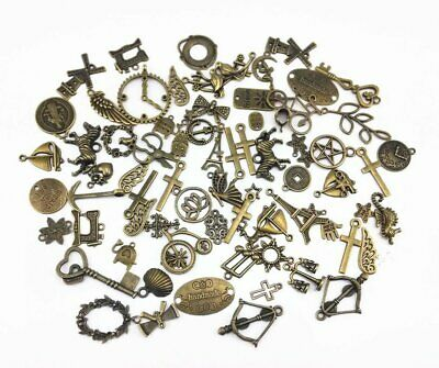 100 Gram (~70pcs) Assorted Antique Charms Keys for Crafting Jewelry Making