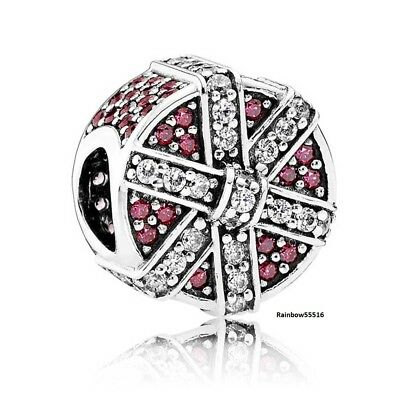 Pandora red shimmering gift charm S925 ALE