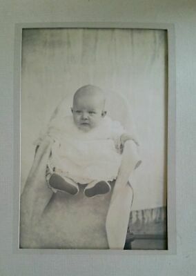 Vintage Antique Framed Photo Photograph Young Child Baby