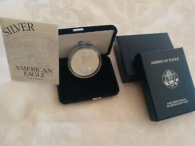 2001-W American Eagle $1 ONE DOLLAR 1 OZ .999 Fine Silver Proof Coin OGP & COA!