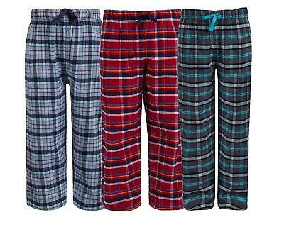 Boys Flannel Pyjama Bottoms 3 colours Blue Turquoise Red - BEST SELLER!!!