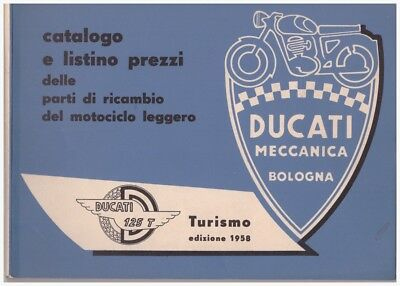 Catalogo ricambi originale spare parts catalogue Ducati 125T edizione 1958