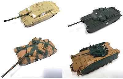 Set Of 4 Uk Army Military Vehicles 1:72 Scale Diecast Tank Challenger Chieftain
