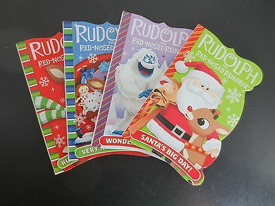 Lot of 4~Rudolph the Red-Nosed Reindeer Board Books for Children~Ages 2+~New