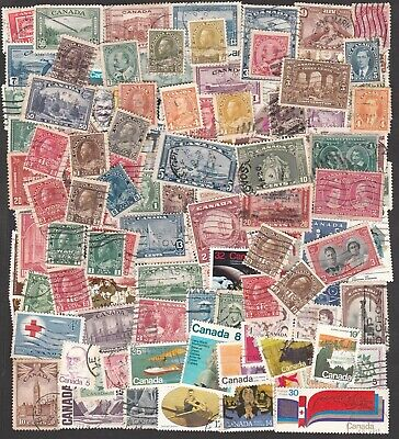 CANADA 1900-1980s HUGE COLLECTION OF STAMPS INCLUDING MANY HIGH VALUES (100+)