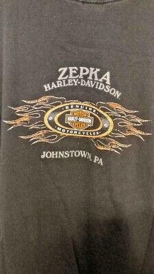 Harley-Davidson Collectable 2009 Zepka - Johnstown, Pa T-Shirt Size 5Xl