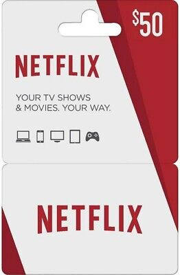 USA Netflix Gift Card - $50 Email delivery