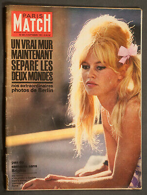 'paris-Match' French Vintage Magazine Brigitte Bardot Cover 2 September 1961