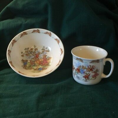 Vintage Royal Doulton Bunnykin Cup and Bowl