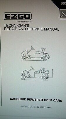 service manual for ez go golf cart