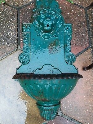 Castiron Lion Water Feature.