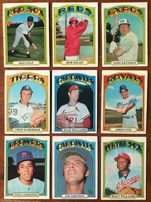 1972 TOPPS BASEBALL Pick your own Commons (3/$1) and Stars