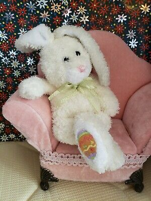 """Ty Beanie Babies Hoppily the yellow bunny, Easter, 2005, PE Pellets 7"""""""