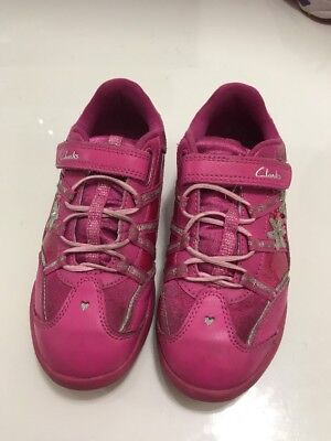 clarks girls trainers/ shoes with lights size UK 12.5 F  *