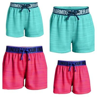 New Under Armour Big Girls Play Up Novelty Soft Mesh Shorts - Choose Size/Color