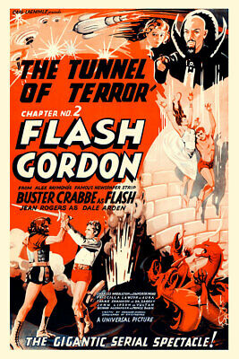 Flash Gordon 1936 Chapter Two The Tunnel of Terror Movie Poster