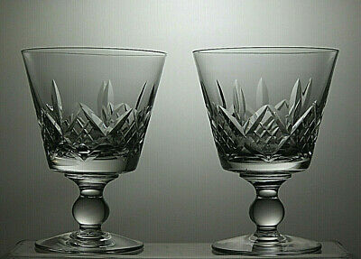 "Stuart Crystal ""Glengarry"" Cut 10Oz Water Goblets Claret Wine Glasses-5 1/8""Tall"