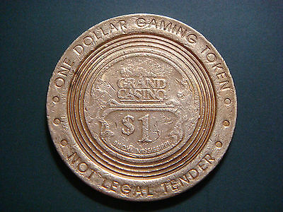 1999 Grand Casino in Biloxi Mississippi $ 1 One DOLLAR Token